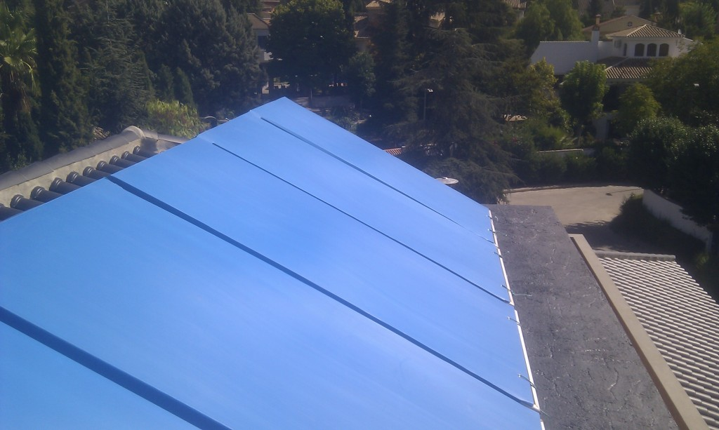 Solar panels covered polypropylene